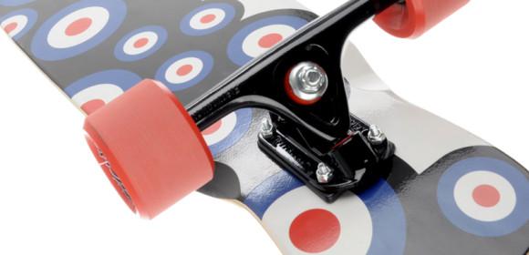 Longboard in 360-Grad-Produktpräsentation