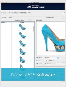 zur 360Shots Worktable Software